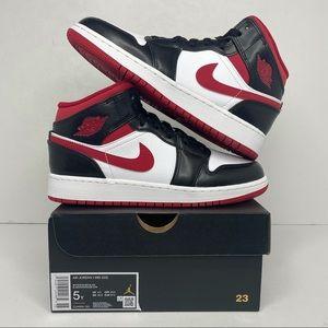 "Nike Air Jordan 1 Retro Mid GS ""Gym Red"" BRAND NEW"